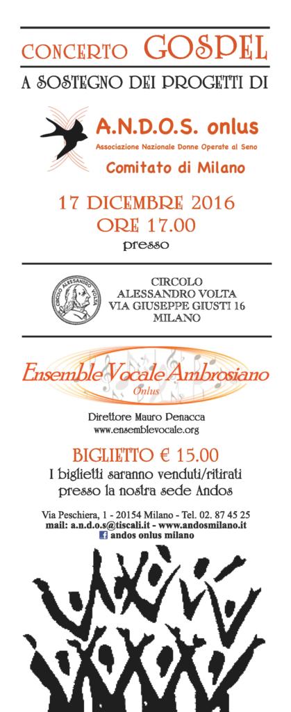 Concerto Gospel A.N.D.O.S. Onlus Milano